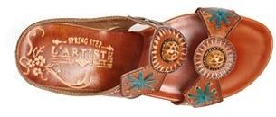 Spring Step 'Sesame' Leather Wedge Sandal