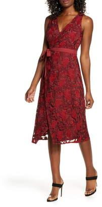 Ali & Jay The London Lace Wrap Midi Dress