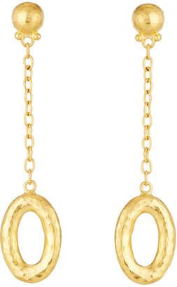 Gurhan Galahad Long Chain Drop 24k Earrings