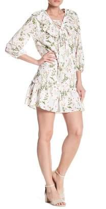 AFTER MARKET 3/4 Length Sleeve Floral Dress