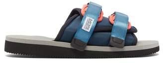 Suicoke Moto Cab Two Strap Slides - Mens - Blue Multi