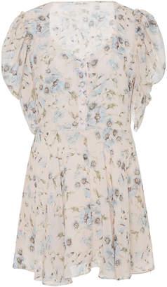 LoveShackFancy Cora Floral Mini Dress