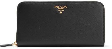pradaPrada - Textured-leather Continental Wallet - Black
