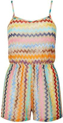 Missoni Mare Lurex Zig Zag Playsuit