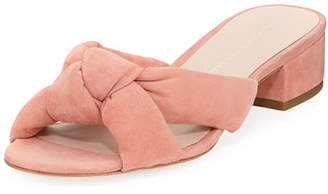 Loeffler Randall Elsie Suede Knot Slide Sandal