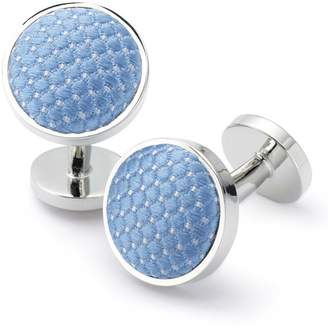 Charles Tyrwhitt Sky Diamond Silk Cufflinks