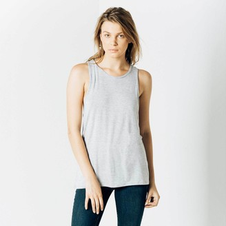 DSTLD Modal Muscle Racerback Tank in Heather Grey