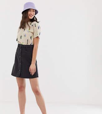 2edcf322c Noisy May Tall button front denim skirt