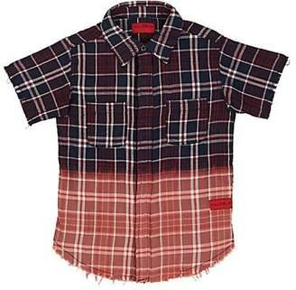 Haus of JR Kids' Braxton Plaid Twill Shirt - Blue