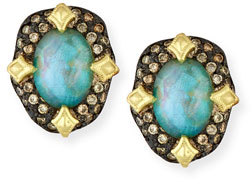 Armenta Armenta Old World Peruvian Opal Earrings with Diamonds
