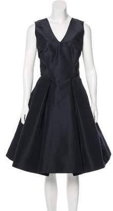Zac Posen Structured Sleeveless Dress