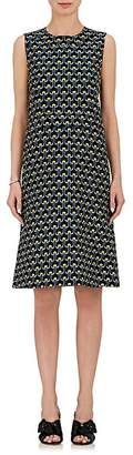 Marni Women's Abstract-Print Cotton-Silk Sheath Dress