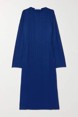 Givenchy Plissé-crepe Maxi Dress - Blue