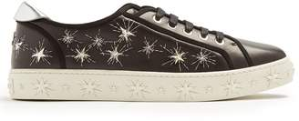 Aquazzura Cosmic Star embellished leather trainers