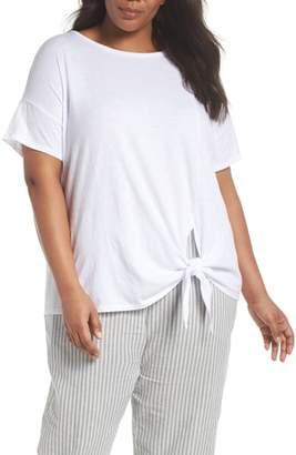 Eileen Fisher Tie Hem Organic Cotton Tee
