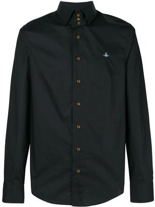 Vivienne Westwood logo embroidered button-down shirt