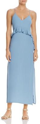 Elliatt Rapture Ruffle Maxi Dress $130 thestylecure.com