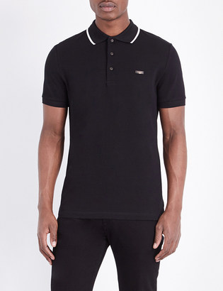 Burberry Tipped cotton-piqué polo shirt $205 thestylecure.com