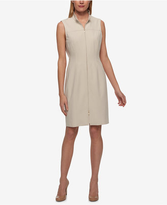 Tommy Hilfiger Zip-Front Shirtdress $129 thestylecure.com