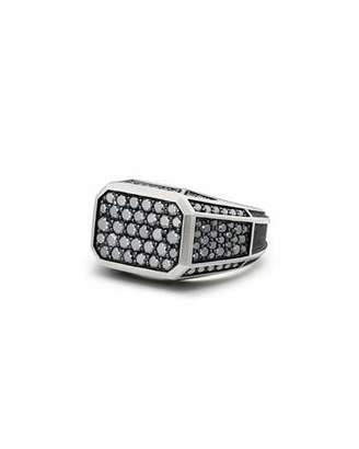 David Yurman Pavé Signet Ring with Black Diamonds