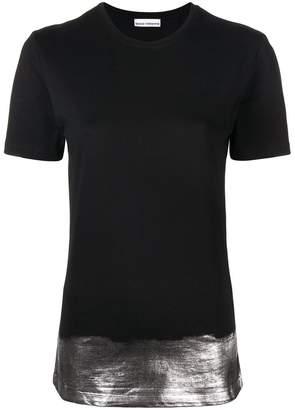 Paco Rabanne silver panel T-shirt