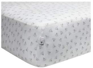 Burt's Bees Baby® Organic Fitted Crib Sheet - Honeybee - Gray