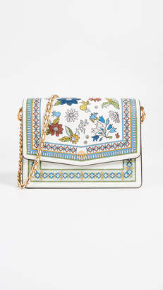 Tory Burch Robinson Floral Shoulder Bag
