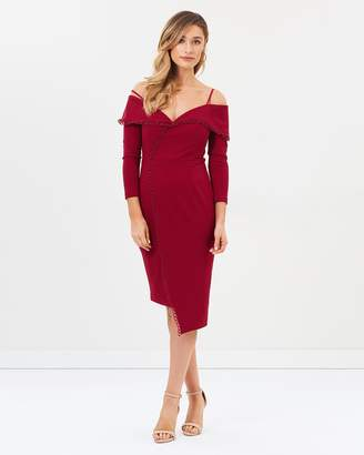 Elora Long Sleeve Wrap Midi Dress