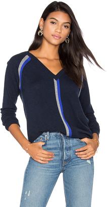 Autumn Cashmere Boyfriend V Neck Sweater $286 thestylecure.com