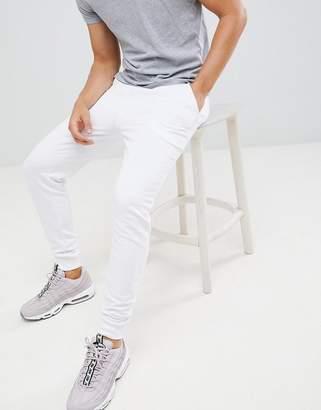 Asos Design DESIGN skinny joggers in white