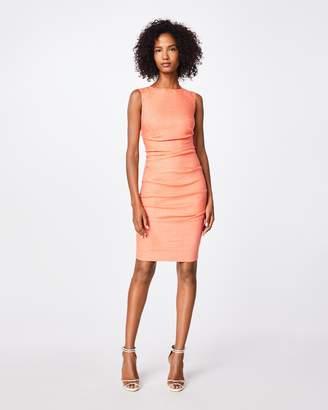 7e2e5612825 Nicole Miller Stretch Linen Northern Star Tuck Dress