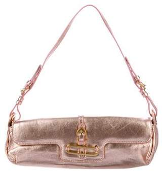 Jimmy Choo Metallic Leather Ciggy Shoulder Bag