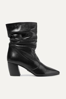Prada Leather Boots - Black