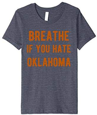 Breathe if you hate oklahoma t-shirt for Texas Fans