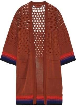 Missoni Open Knit-paneled Cotton Cardigan