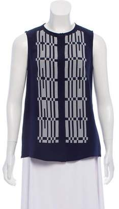 Derek Lam Sleeveless Silk Button-Down