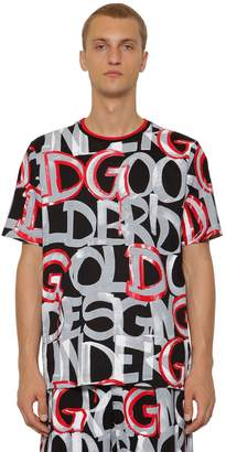 07b39ea626a37e Dolce & Gabbana Graphic Printed Cotton Jersey T-shirt