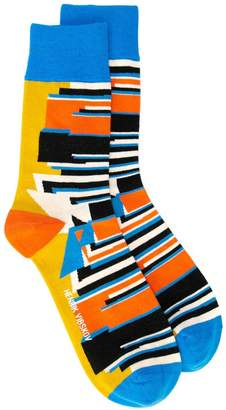 Henrik Vibskov geometric print socks