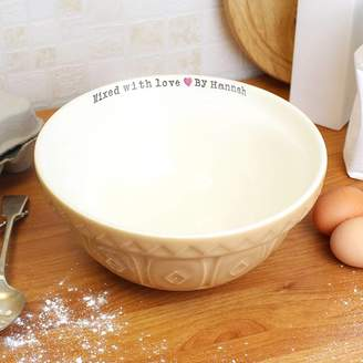 Oli & Zo 'Mixed With Love By...' Personalised Baking Bowl