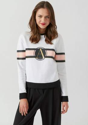 Emporio Armani French Terry Fleece Sweatshirt With Metal Logo