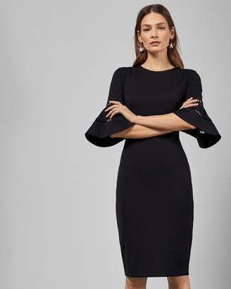 989e0838c Ted Baker FILNIO Lace sleeve bodycon dress