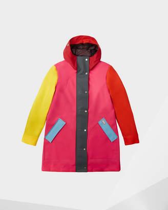 Hunter women's original colour blocked rubberised hunting coat