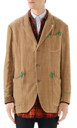 Gucci Embroidered Velvet Jacket