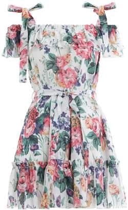 Zimmermann Allia Tie Short Dress