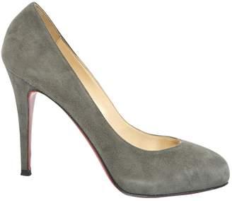 Christian Louboutin Fifi Grey Suede Heels