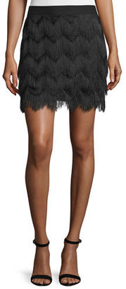 Ella Moss Mid-Rise Fringe Skirt $94 thestylecure.com