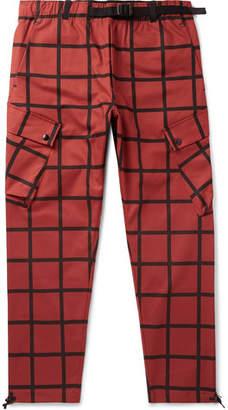 Nike + Patta Checked Stretch-cotton Cargo Trousers - Brick