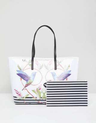 Ted Baker Large Canvas Shopper in High Grove Print