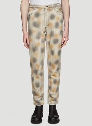 Eckhaus Latta Dirty Dye Jeans in Grey