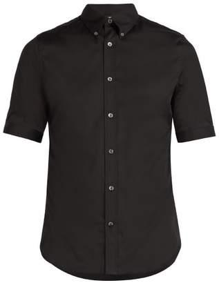 Alexander McQueen Brad Pitt Short Sleeve Poplin Shirt - Mens - Black
